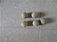(5) 1920s-1930s Golf Balls  made by Spalding, Victor, Silver King