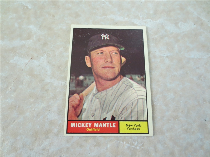 1961 Topps Mickey Mantle baseball card #300  very nice condition!