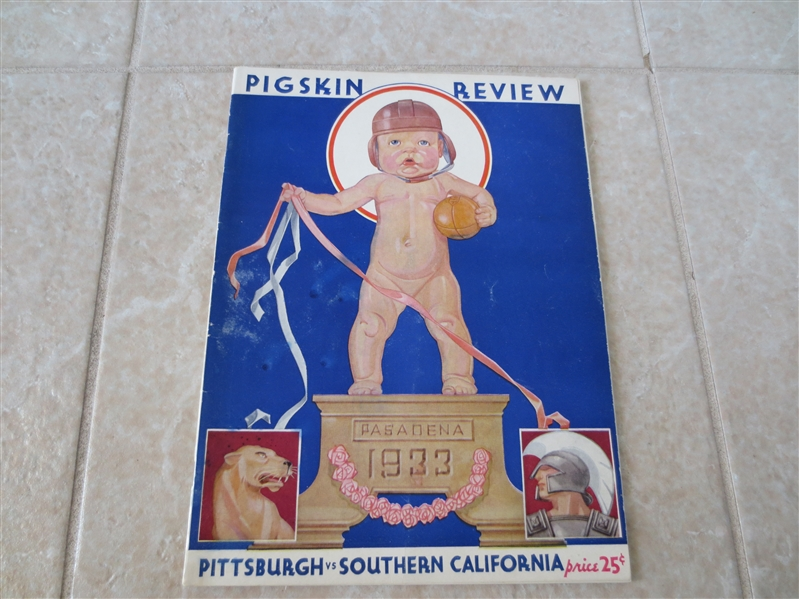 1933 USC vs. Pittsburgh Rose Bowl football program   Beautiful condition!