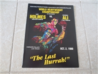 1980 Muhammad Ali vs. Larry Holmes boxing program from Las Vegas