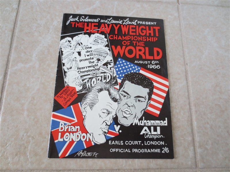 1966 Muhammad Ali vs. Brian London Heavyweight Boxing Championship program from London  RARE!