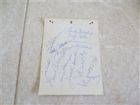 (14) 1953 Hollywood Stars PCL Autograph Sheet with toughies!
