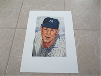 Autographed Whitey Ford Limited Edition Lithograph of 1953 Topps Style  NICE!