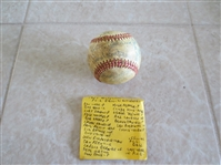 1957 Hollywood Stars PCL baseball with 21 autographs  LAST year in existence!