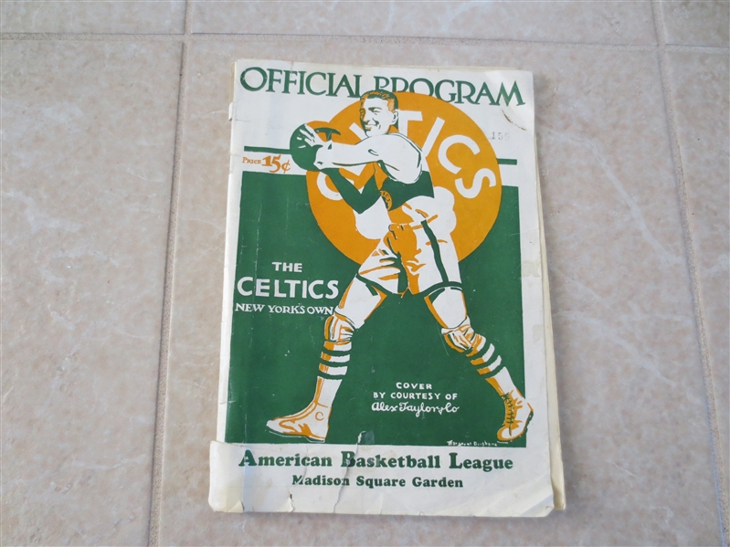 1927-28 New York Celtics ABL Basketball Program/Yearbook  VERY RARE!