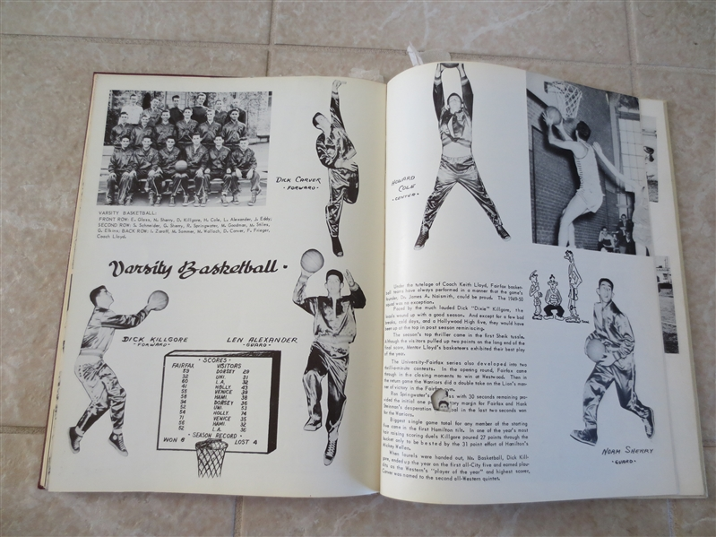 High School Yearbook with Jack Kemp, Norm Sherry, and Al Silvera