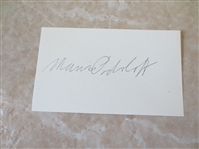"Autographed Maurice Podoloff HOF Basketball Executive 3"" x 5"" card"