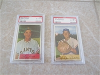 (3) 1954 Bowman PSA 6 baseball cards with no qualifiers Jansen, Robertson, Kryhoski