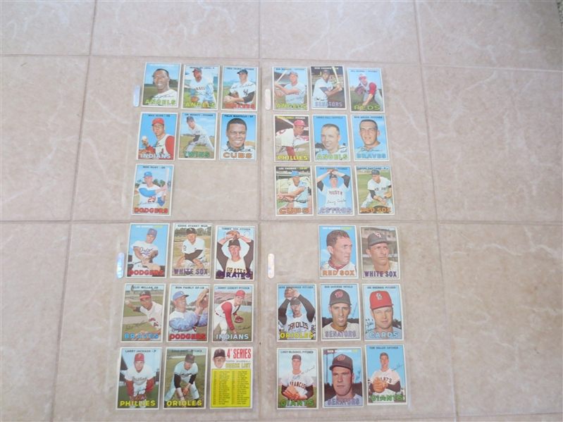 (33) 1967 Topps Baseball Cards from vending  Beautiful!  Send to PSA?
