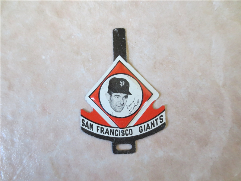 1958 Armour San Francisco Giants Tab Danny O'Connell RARE