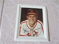 "1950s Stan Musial Baseball Tin Tray Hall of Fame 6"" x 5"""