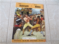 1955 Rocky Marciano vs. Archie Moore Heavyweight Championship Boxing Program