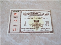 1932 Los Angeles Olympics Opening Day Ceremonies Ticket Stub  Nice shape.