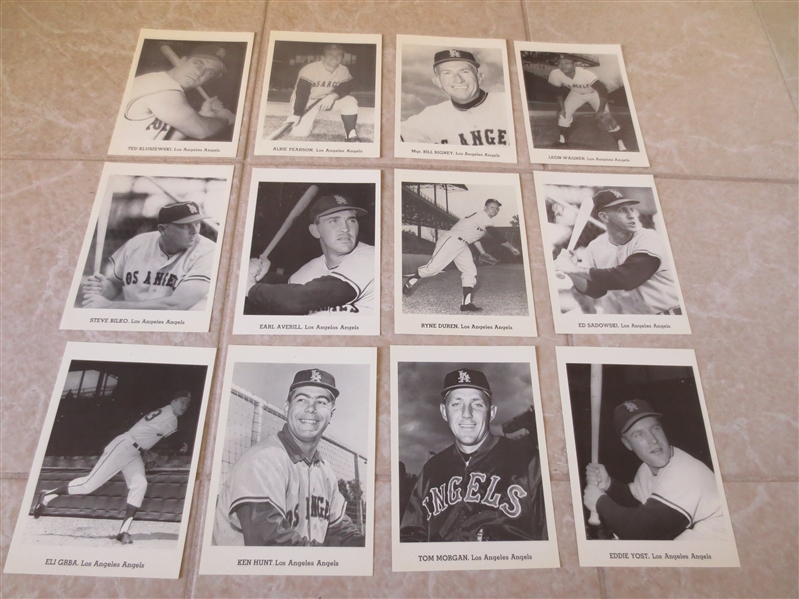 1962 Los Angeles Angels Picture Set with mailing envelope  NEAT!