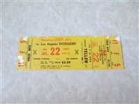 1964 Koufax Wins Full ticket Houston Colt 45s at Los Angeles Dodgers