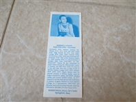 1968-74 Bob Cousy Hall of Fame bookmark   VERY RARE