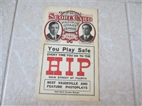 1921 Sacramento Solons at Los Angeles Angels PCL baseball program   VERY RARE