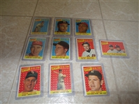 (10) 1958 Topps All Star Baseball Cards including Spahn, Mathews, Stengel