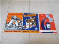 (3) 1943 Chicago Bears and New York Giants football programs