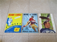 (3) 1940 Chicago Bears Football programs The Bears won the 1940 NFL Championship!