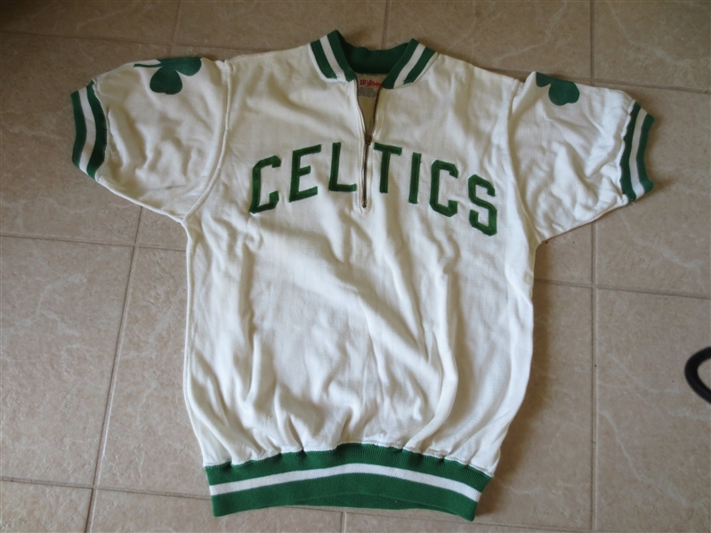 1950's-60's Boston Celtics Game Used Game Worn Warm Up Wilson Size 42 Mike