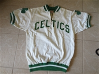 1950s-60s Boston Celtics Game Used Game Worn Warm Up Wilson Size 42 Mike