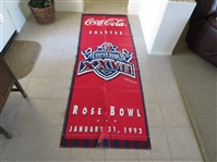 Huge 1993 Super Bowl 27 Banner Dallas Cowboys vs. Buffalo Bills Coca Cola  8 x 3