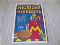 1923 Minnesota at Michigan college football program Little Brown Jug  RARE!