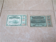 1929 and 1932 USC vs. Notre Dame football ticket stubs