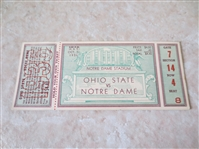 1936 Ohio State at Notre Dame FULL football ticket  WOW!