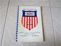 1956 Fact Book of the U.S. Olympic Team Melbourne, Australia