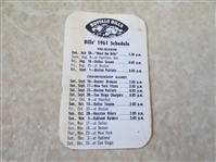 1961 Buffalo Bills AFL Football pocket schedule 2nd year of existence RARE!