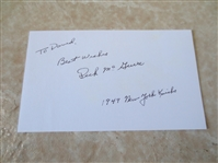 "Autographed Dick McGuire basketball 3"" x 5"" card 1949 New York Knicks"
