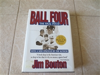 Autographed Jim Bouton Ball Four The Final Pitch hardcover book