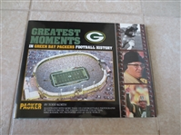 1998 Greatest Moments in Green Bay Packers Football History hardcover book with dust jacket