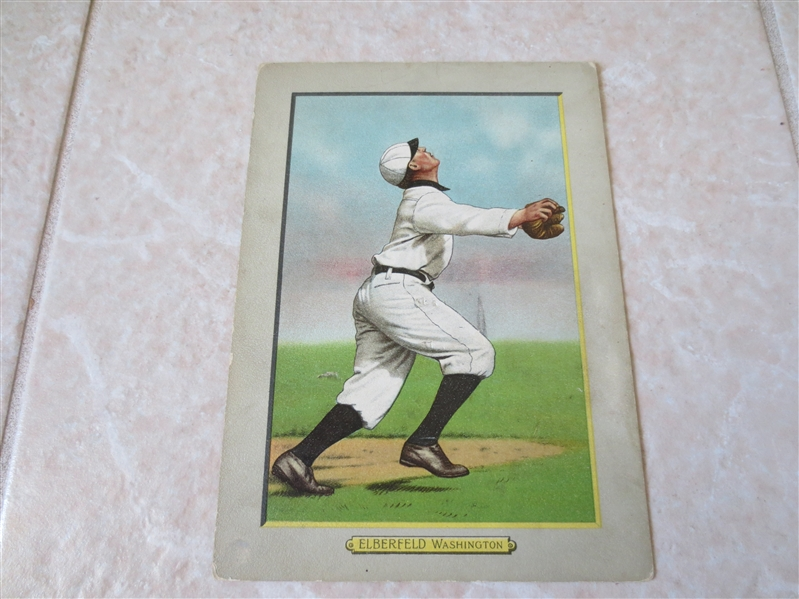 1910-11 Kid Elberfield T3 Turkey Red Cabinet baseball card