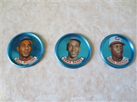 1965 Old London Coins Frank Robinson, Billy Williams, Ernie Banks