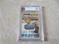 1967 Topps Hank Aaron baseball card #250 Beckett Grading 5.5 Excellent+