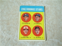 1963 Topps Pete Rose rookie baseball card #537  Affordable condition!