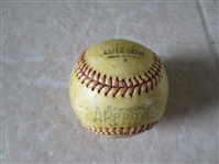 Autographed 1949 or 1950 Oakland Oaks PCL signed baseball 23 signatures Charlie Dressen sweet spot