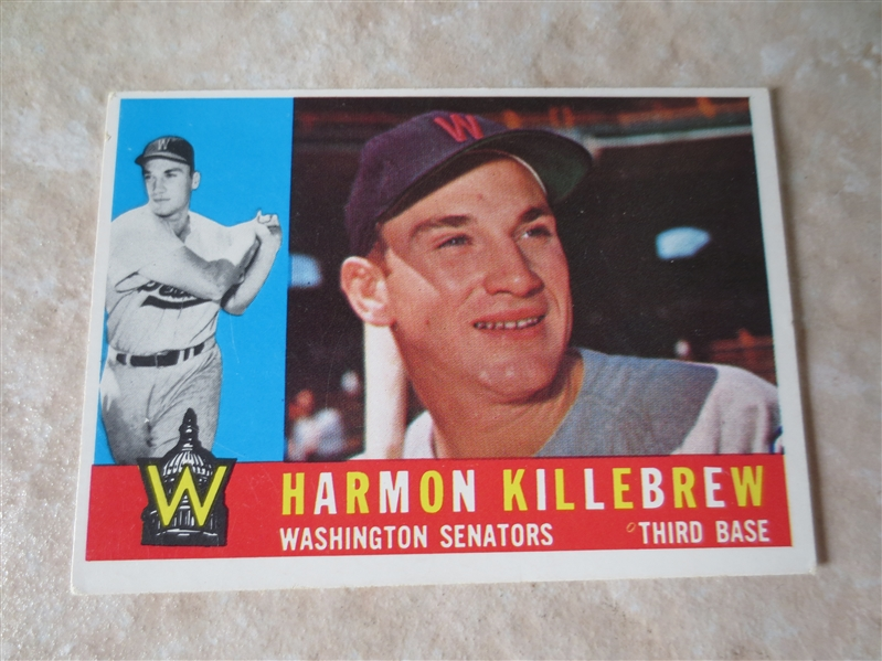 1960 Topps Harmon Killebrew #210 baseball card Nice condition!