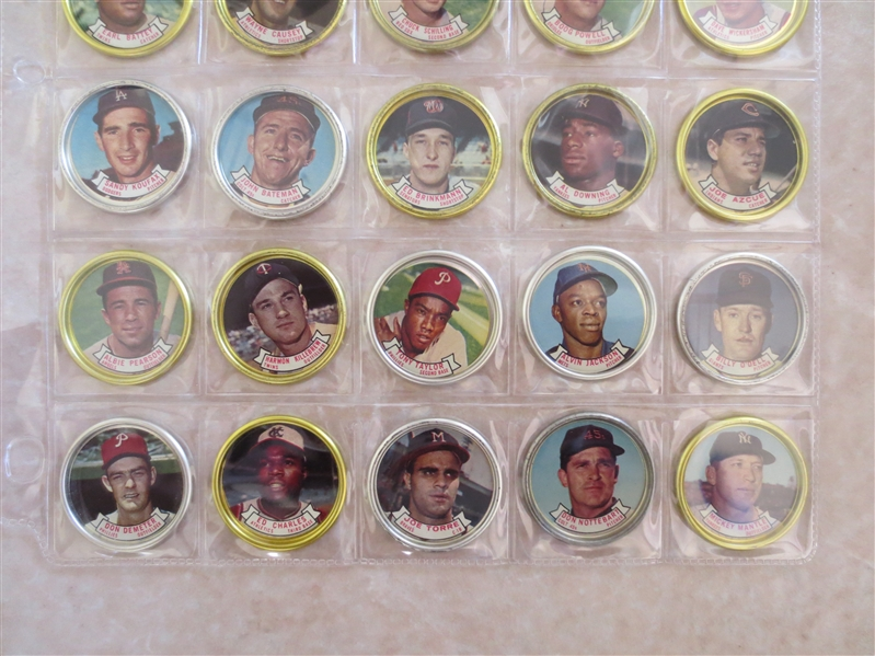 1964 Topps Baseball Coins Complete Set in Beautiful condition with all the tough varities!