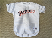 Autographed Tony Gwynn (?), Andy Benes, and Eddie Williams San Diego Padres jersey