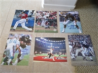 "(2) Autographed Andruw Jones 8"" x 10"" photos + Chicago Bears autogs. of Ronnie Bull, Calvin Thomas, Reggie Phillips"