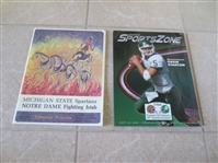 1966 Game of the Century Program Notre Dame vs. Michigan State + 40th Anniv. Program