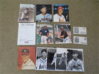 (12) Autographed Baseball Hall of Famer Items: Musial, Spahn, Cepeda, Feller, Winfield, Rizzuto, Garvey, Marion
