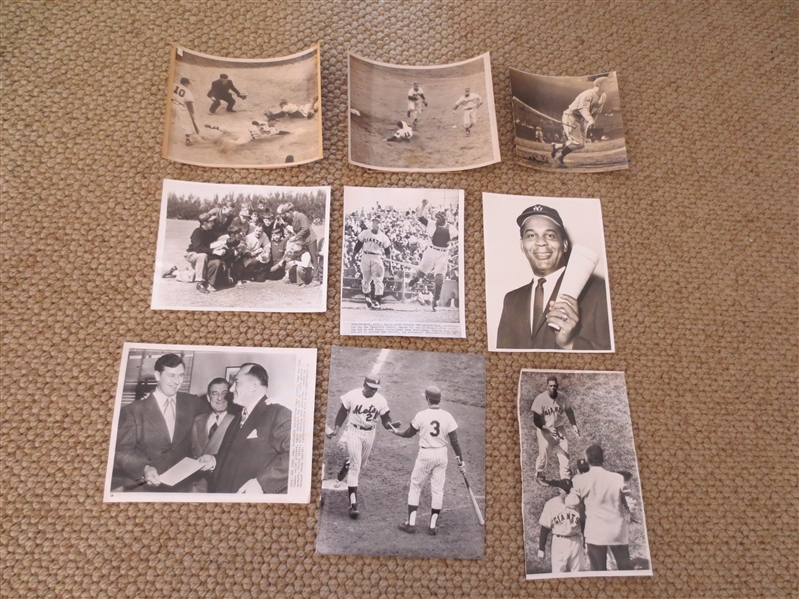 Incredible Type 1 Baseball Wire photo collection: DiMaggio, Klein, Mays, Cepeda, Reiser, Combs, more