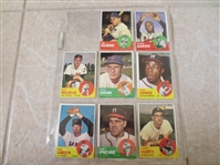 1963 Topps Wilhelm, Colavito, Ashburn, Hubbs + Straight from VENDING!