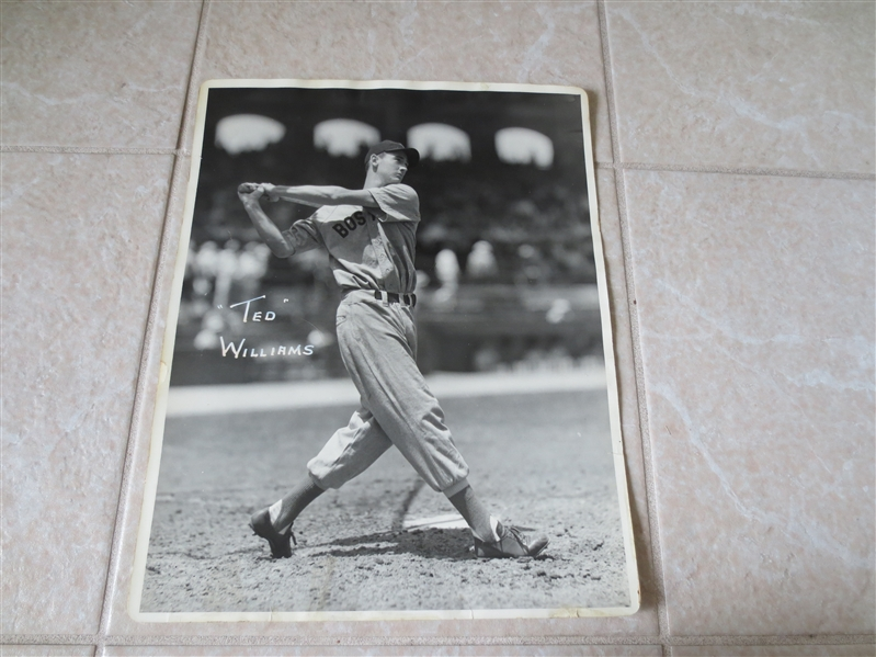 1930's-40's Ted Williams George Burke Chicago Original 14 x 11 photo  A Beauty!