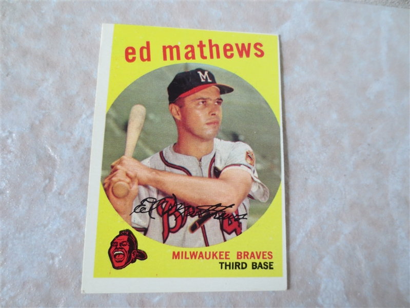 1959 Topps Ed Mathews baseball card #450  HOFer